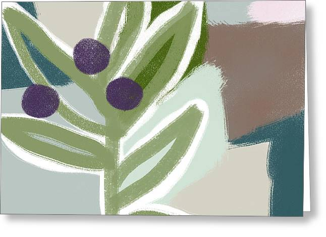 Olive Branch 1- Art By Linda Woods Greeting Card