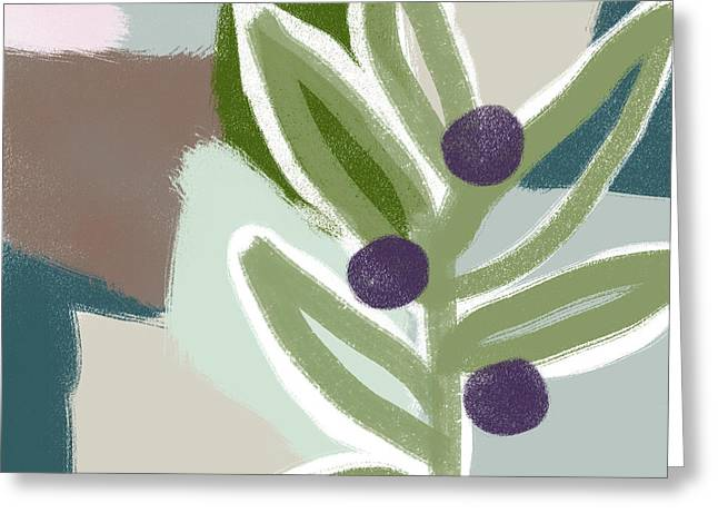 Olive Branch 2- Art By Linda Woods Greeting Card