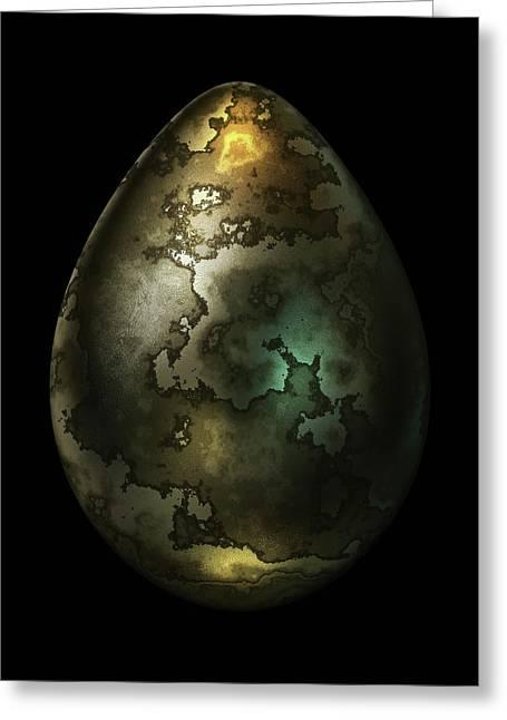 Olive Gold Egg Greeting Card by Hakon Soreide