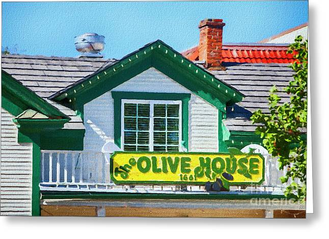 Olive House Greeting Card by David Millenheft