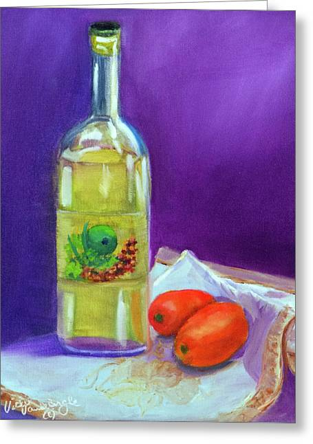 Olive Oil And Tomatoes Greeting Card