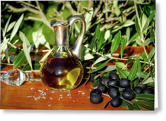 Olive Oil Greeting Card by Couleur