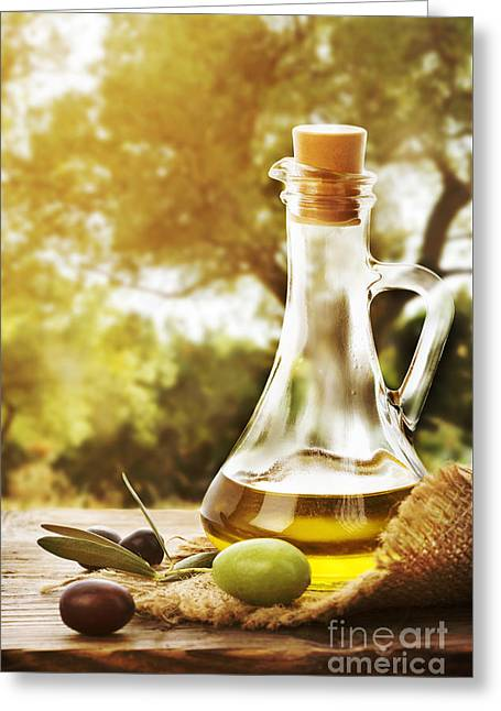 Olive Oil Greeting Card by Jelena Jovanovic