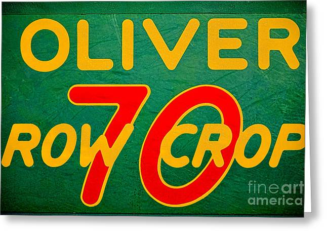 Oliver 70 Row Crop Greeting Card by Olivier Le Queinec