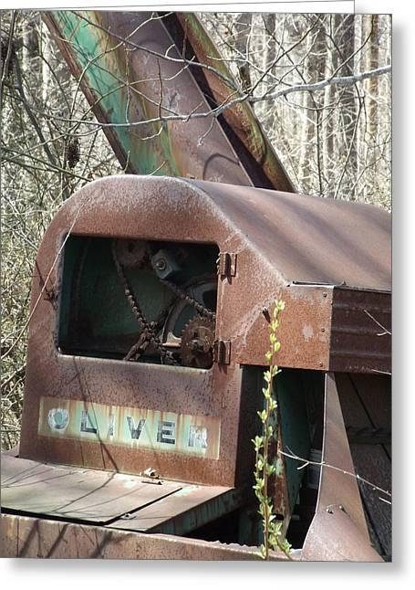 Oliver Corn Picker Antique Farm Machinery II Greeting Card