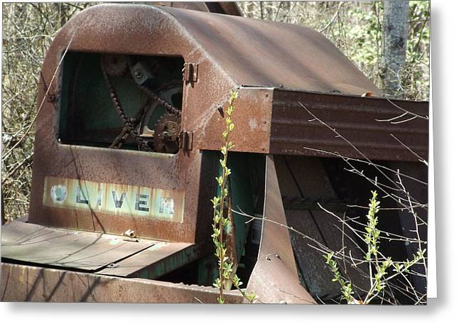 Oliver Corn Picker Antique Farm Machinery IIi Greeting Card