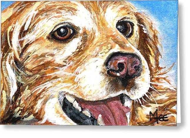 Oliver From Muttville Greeting Card by Mary-Lee Sanders
