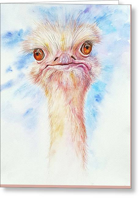 Oliver The Ostrich Greeting Card