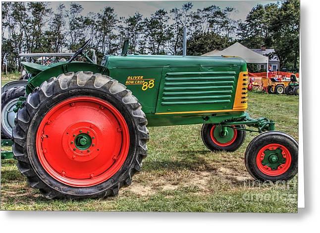 Oliver Tractor Row Crop 88 Li.ny Greeting Card