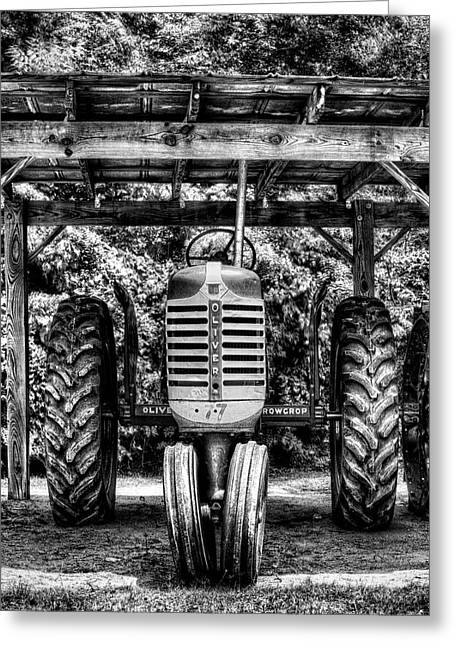 Oliver Tractor Greeting Card