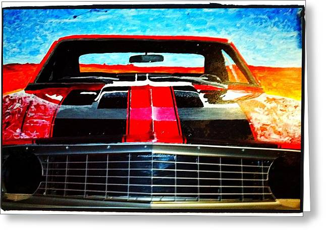 Olivers Camaro-  Greeting Card