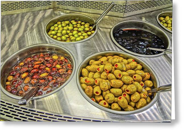Olives Greeting Card by Bruce Iorio