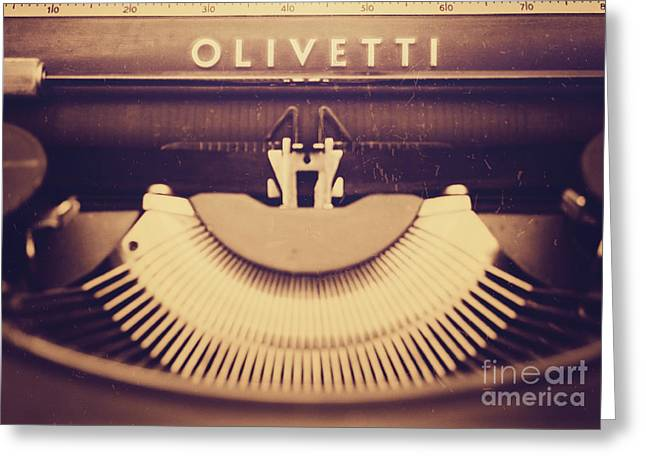 Olivetti Typewriter Greeting Card by Giuseppe Esposito