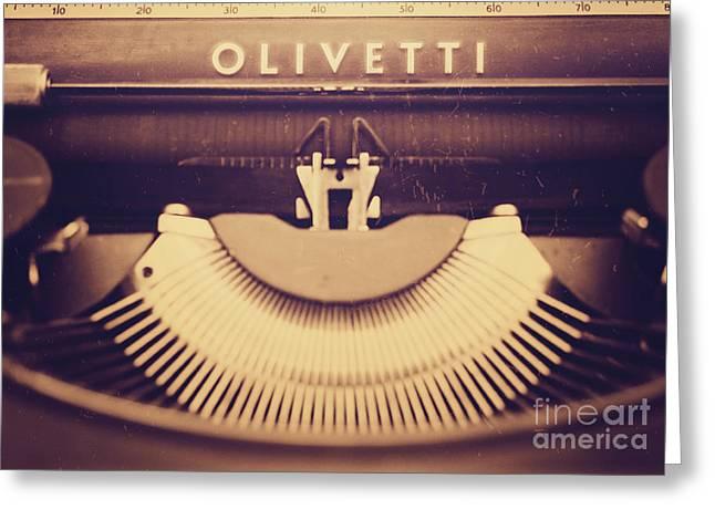 Olivetti Typewriter Greeting Card