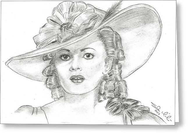 Olivia De Havilland Greeting Card by Steven White