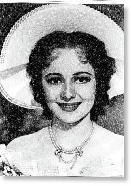 Olivia De Havilland, Vintage Actress By Js Greeting Card