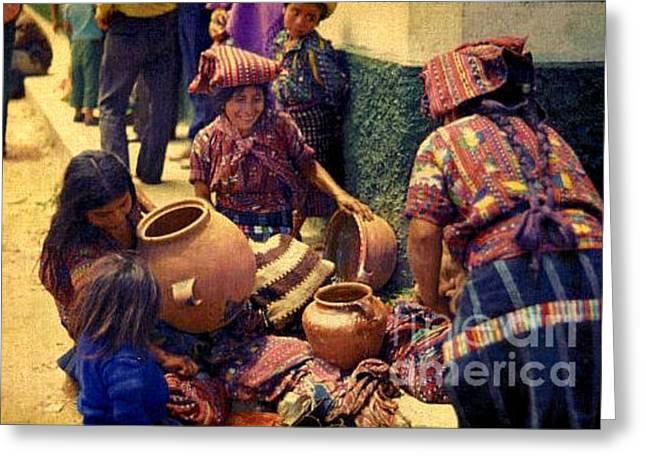 Ollas - Guatemala 1976 Greeting Card by Miriam Danar