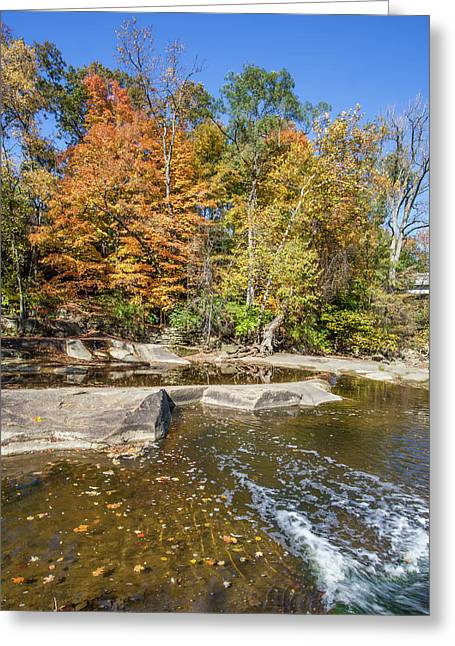 Greeting Card featuring the photograph Olmsted Falls Autumn Spendor by Lon Dittrick