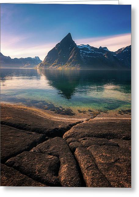 Olstinden Greeting Card by Tor-Ivar Naess