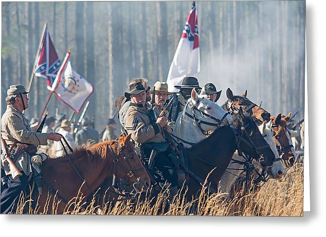 Olustee Confederate Charge Greeting Card by Kenneth Albin