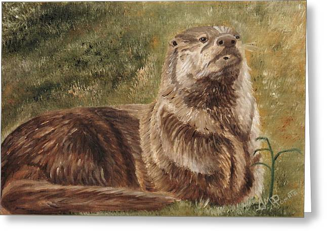 Olympia River Otter Greeting Card