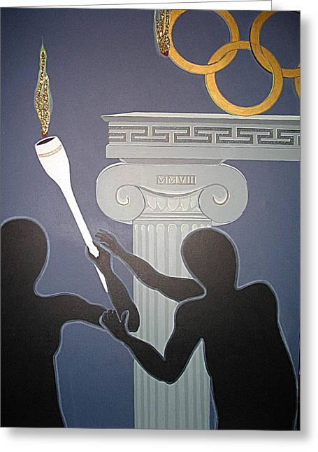 Olympic 2008 Greeting Card by Ingrid Stiehler