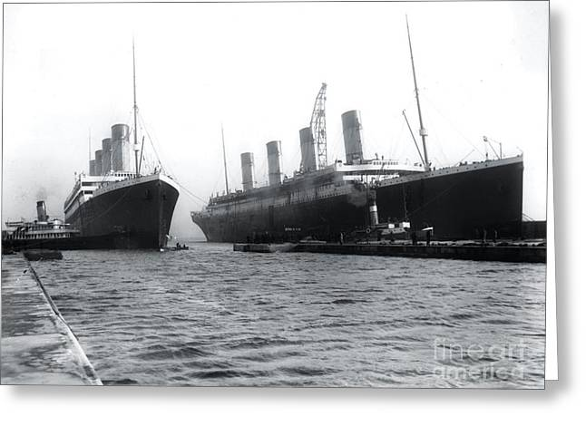 Olympic And Titanic Greeting Card by The Titanic Project