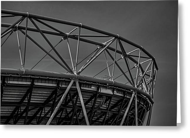 Olympic Stadium Greeting Card by Martin Newman