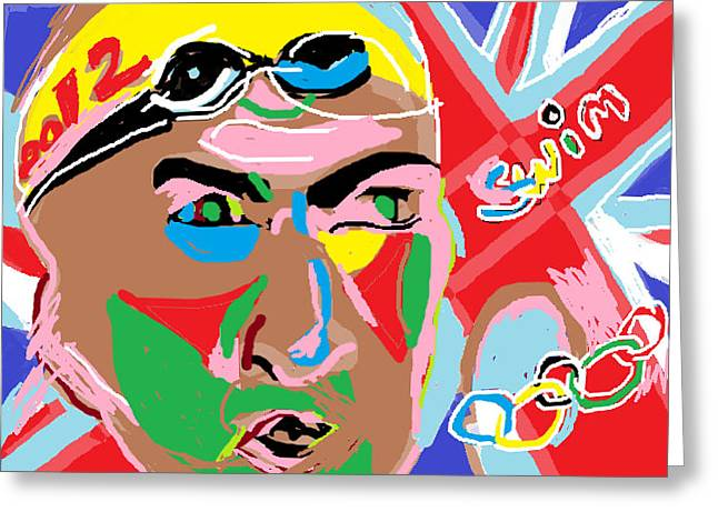 Olympics 2012 Swim Greeting Card