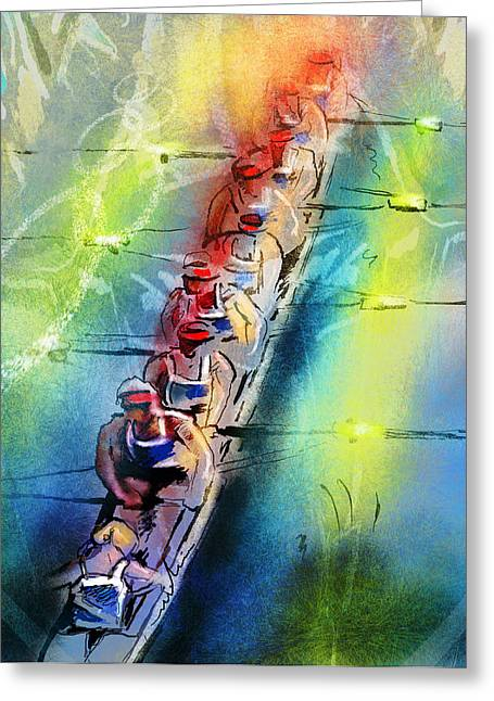 Olympics Rowing 02 Greeting Card