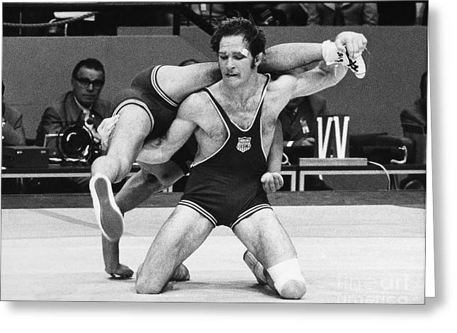 Olympics: Wrestling, 1972 Greeting Card by Granger