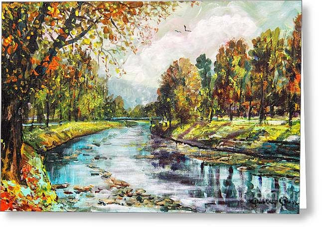 Olza River Greeting Card