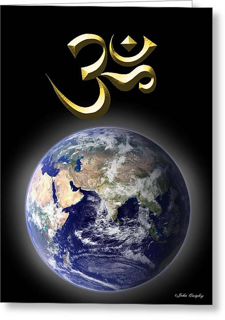 Om - The Sound Of Creation Greeting Card