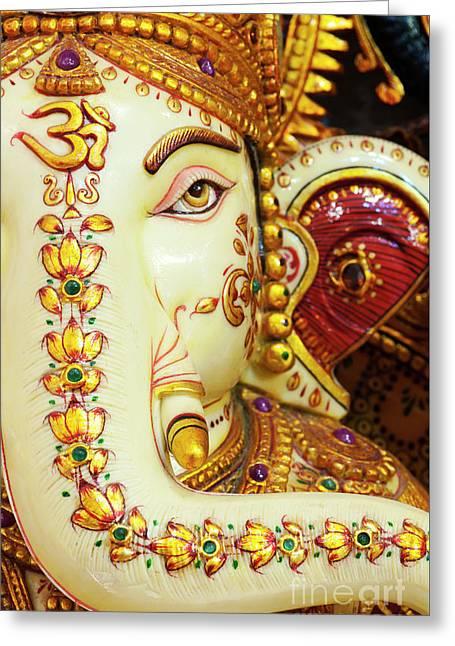 Om Ganesha Greeting Card by Tim Gainey