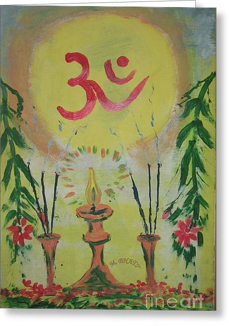 Om Immage For Memmory Greeting Card by m Bhatt