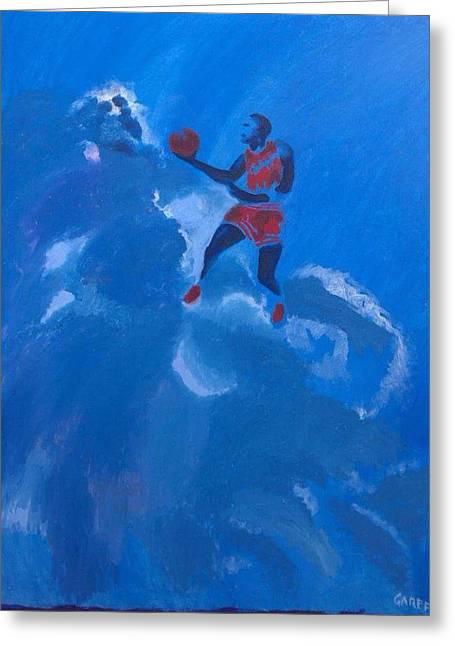 Omaggio A Michael Jordan Greeting Card by Enrico Garff
