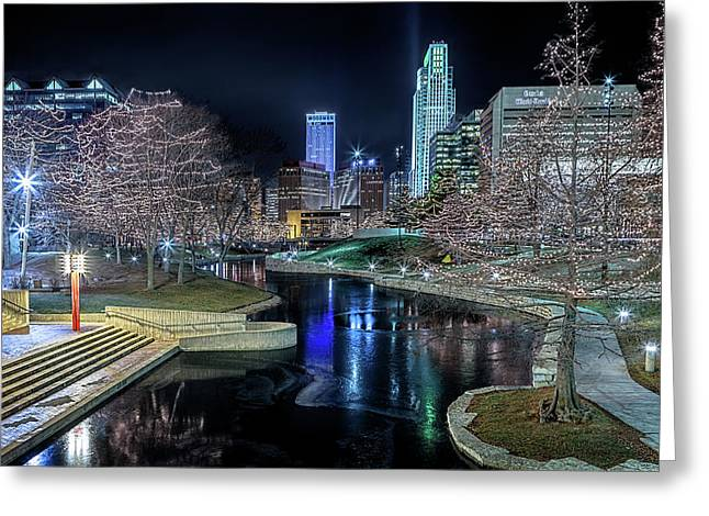 Greeting Card featuring the photograph Omaha Holiday Lights Festival by Susan Rissi Tregoning