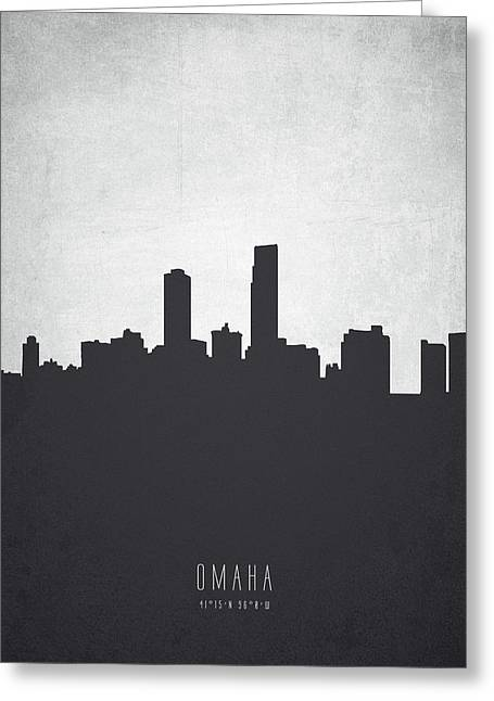Omaha Nebraska Cityscape 19 Greeting Card by Aged Pixel