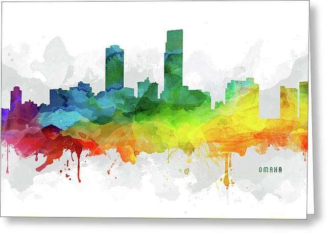 Omaha Skyline Mmr-usneom05 Greeting Card by Aged Pixel