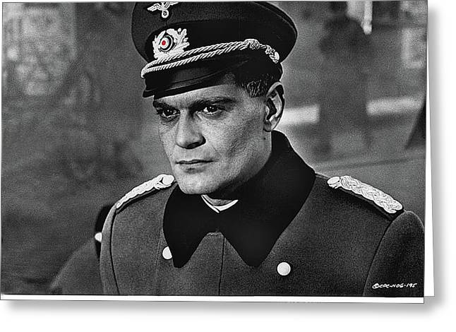 Omar Sharif As Major  Grau  The Night Of The Generals Promotional Still 1967 Color Added 2016 Greeting Card by David Lee Guss