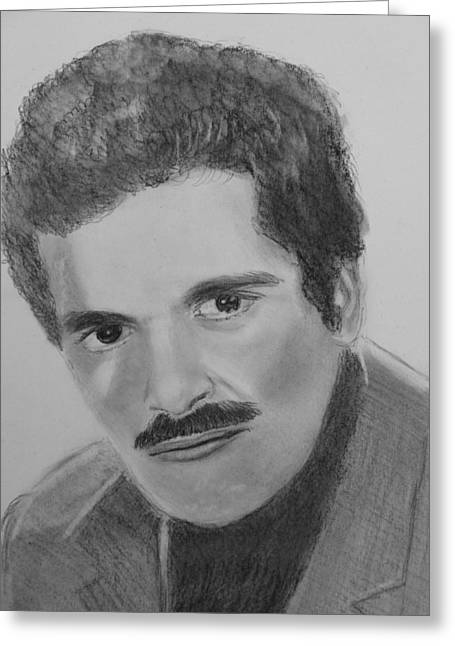 Omar Sharif Greeting Card by Paul Blackmore