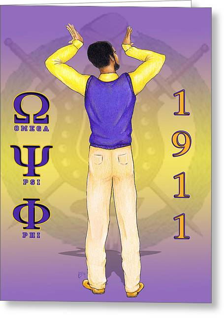 Omega Psi Phi Greeting Card