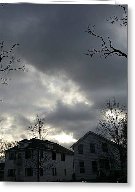 Ominous Clouds Greeting Card by Diamante Lavendar
