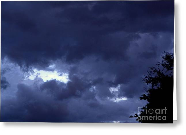 Greeting Card featuring the photograph Ominous Clouds by Terri Mills