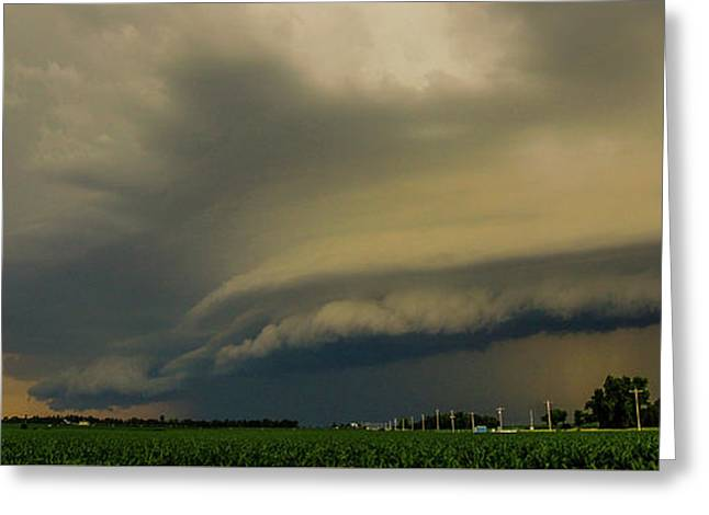 Greeting Card featuring the photograph Ominous Nebraska Outflow 007 by NebraskaSC
