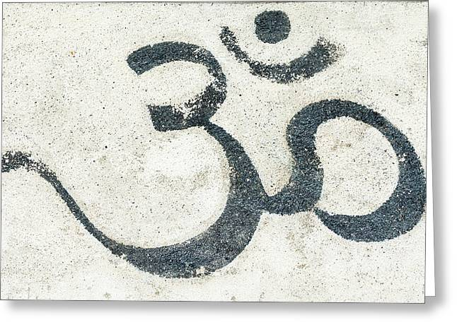 Omkar Graffiti Greeting Card