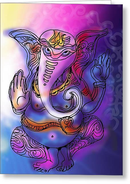 Omkareshvar Ganesha Greeting Card