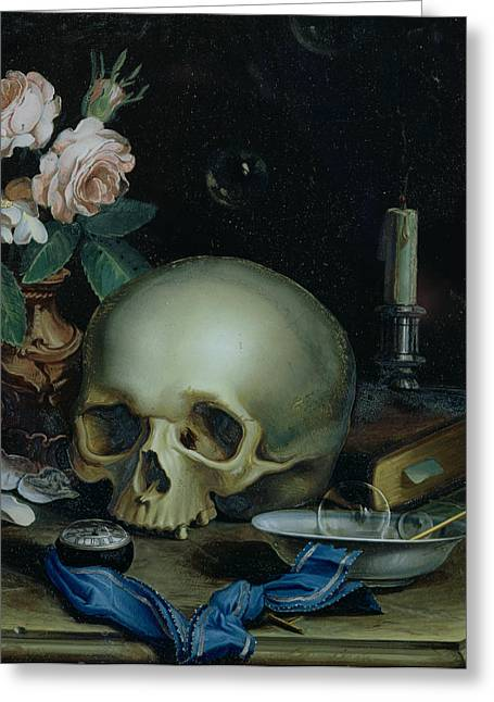 Omnia Vanitas Greeting Card by Dutch School