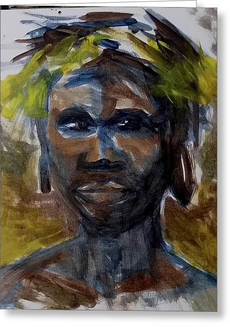 Omo Valley Tribe  Greeting Card