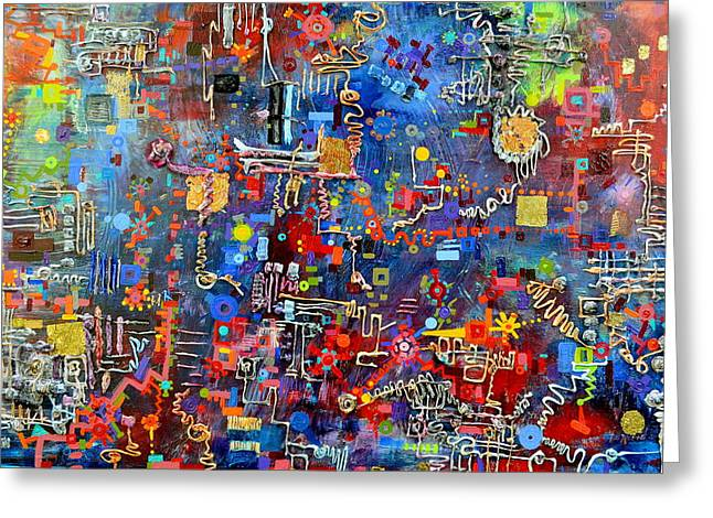 On A Chip Greeting Card by Regina Valluzzi
